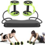 New              Double Ab Roller Abdominal Trainer Multifunctional Core Puller Roller Slimming Muscle Fitness Exercise Tools