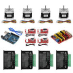 New              TWO TREES® UNO CNC Kit with Controller + Shield + Nema 23 Stepper Motors + TB6600 + Limited Switches