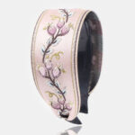 New              French Retro Simple Headdress Embroidery Flower Wide Brimmed Headband Toothed Non-slip Headband Female