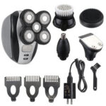 New              5 In 1 Electric Men Bald Head Shaver Kit 5 Heads Cordless Hair Clippers Trimmer