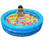 New              Inflatable Swimming Pool Round Ocean Ball Paddling Pool Baby Kids Inflated Tubs for Outdoor Yard Garden Family
