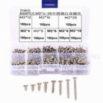 New              Suleve M2SP2 800Pcs M2 Stainless Steel Phillips Cross Pan Head Self Tapping Screws Assortment Kit 4-20mm