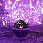 New              Rotating Unicorn Star Projector LED Starry Lamp Baby Night Light Children Gift