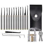 New              19 Pcs Stainless Steel Lock Set Gift Kits Lock Repair Sets for Door Lock
