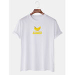 New              Mens Casual Cartoon Banana Printed Round Neck Casual Short Sleeve T-Shirts