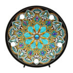 New              5D Diamond Painting Mandala Embroidery Full Special Shaped Drill LED Lamp light