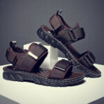 New              Men Comfy Soft Sole Hook Loop Casual Beach Sandals
