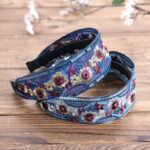 New              Vintage Embroidery Ethnic Style Flower Woven Headband Fashion Sequin Embroidery Wide Brimmed Headband