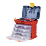 New              NEWACALOX Portable Multifunctional Hardware Storage Box with 4-layer Parts Plastic Box Outdoor For Repair Accessories Toolcase