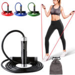 New              3m Adjustable Rope Jumping Metal Speed Skipping Rope Heavy Duty Jumping Fitness Training
