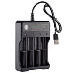 New              USB 4 Slots Rechargable Battery Charger For 1-4 3.7V Li-ion 18650 16650 14650