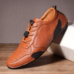 New              Men Hole Comfy Breathable Casual Driving Flats