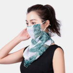 New              Floral Breathable Printing Masks Neck Protection Sunscreen