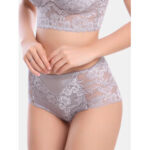 New              Women Mid Waisted Lace Full Hip Panties