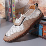 New              Menico Men Hand Stitching Comfy Breathable Casual Flats