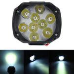 New              12V10W 1000LM 9 LED Super Bright Motorcycle Headlight Bulb Work Light Fog Driving Spot Lamp Night Headlamp For UTV ATV