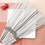 New              50PCS 30cm Stainless Steel BBQ Skewers Grill Roasting Meat Kebab Sticks Set