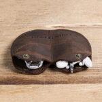 New              Men Genuine Leather Vintage Coin Purse Storage Bag Wallet Coin Bag