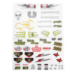 New              PXtoys 9303-1 1/18 DIY Stickers Decals Sheet Body Accessory RC Car Vehicles Model Spare Parts PX9300-25C