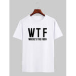 New              Mens Plain Slogan Print Crew Neck Short Sleeve Loose T-Shirts