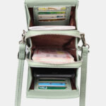 New              Women 8 Card Slots Phone Bag Solid Crossbody Bag Shoulder Bag