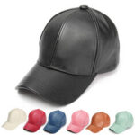 New              Soft PU Leather Baseball Cap Biker Trucker Adjustable Outdoor Sports Hats For Men Women