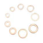 New              200Pcs Assorted Copper Washer Gasket Set Flat Ring Seal Assortment Hardware Kit