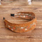New              Ethnic Embroidery Lace Girl Headband Rural Girl Wind Suede Floral Fabric Headband Hair Accessories
