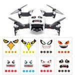 New              RCGEEK Fun Expression Smile Shark Stickers Decals Skin 8Pcs for DJI Mavic 2 AIR Spark Phantom RC Drone