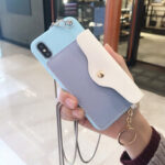 New              Fashion Creative Wallet Pattern Silicone Protective Case with Strap Card Slot for iPhone X / XS / XR / XS Max / 6 / 7 / 8 / 6S Plus / 6 Plus / 7 Plus / 8 Plus