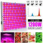 New              1200W LED Grow Light Panel Growing Lamp Hydroponics Indoor Flower Veg Bloom Lighting AC85-265V