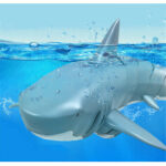 New              T11B 2.4G 4CH Electric RC Boat Simulation Shark Animal RTR Model Toys
