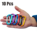 New              10Pcs Aluminum Buckles Outdoor Camping Multi-function Hooks Key Chain Carabiner Tools