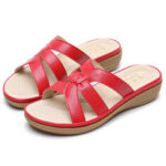 New              Women Cut-out Breathable Wearable Comfy Casual Beach Wedges Sandals