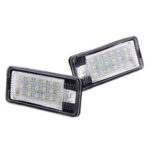 New              18-LED License Number Plate Lights Error Free Pair For Audi A3 S3 A4 A6 S6 A5 RS4