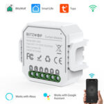New              BlitzWolf® BW-SS6 WIFI Smart Curtain Module APP Remote Controller Timing Open/Close Work with Google Assistant Amazon Alexa
