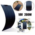 New              200W Flexible Solar Panel Cell Module Kit for 12V/24V RV/Car/Boat Waterproof