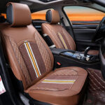 New              1PC Deluxe PU Leather Auto Car Seat Cover Full Front Cushion Universal