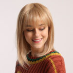 New              Bobo Cosplay Blonde Wigs with Bangs Woman Synthetic Hair Wigs Cute Lolita Cosplay Female Daily False Hair