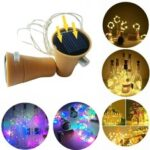 New              2M Solar Powered LED String Light Copper Wire Bottle Cork Outdoor Lamp for Holiday Home Garden Decor