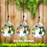 New              A Set(30/40/50mm) Chandelier Sparkling Colorful Hanging Crystal Prism Ball for Pendant