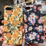 New              Fashion Flower Pattern Hard PC Shockproof Protective Case for iPhone X / XS / XR / XS Max / 6 / 6S / 7 / 8