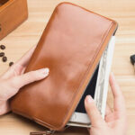 New              Men Fashion Long Zipper Wallet Clutches Bag Phone Bag Business Bag