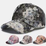 New              Flower Baseball Cap Couple Sunscreen Street Cap Tide Fashion Hat