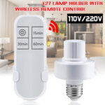 New              110V/220V Wireless Remote Control E27 Lamp Holder Bulb Adapter With Timer Function