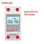 New              SINOTIMER DDS6619-006 230V Backlight Display Single-phase Rail Type2P Electric Energy Meter