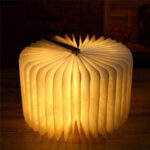 New              Inductive Book Light Wooden Page Grain Creative Night Light W/ USB Portable Gift