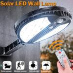 New              70 LED Remote Solar Power Wall Light PIR Motion Sensor Outdoor Solar Lights Garden Yard Lamp