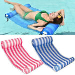 New              132X70CM Inflatable Water Hammock PVC Multi-Purpose Float Hammock Swimming Pool Floating Chair with Air Pump Max Load 120kg