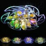 New              7.9″ 20cm 5730 LED Crystal Ceiling Light Fixture Pendant Hallway Chandelier Lamp